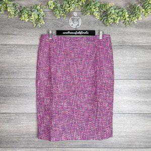 NWT J. Crew Autumn Tweed Pink No. 2 Pencil Skirt